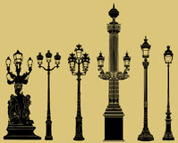 Old fashioned lampost set Stock Image