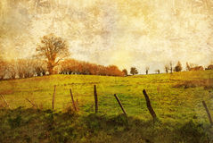 Old-fashioned landscape Stock Image