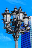 Old fashioned lantern in front of the Alte Oper in Frankfurt am Main, Germany Royalty Free Stock Image