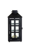 Old fashioned lantern. On white Royalty Free Stock Photography