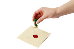 Old-Fashioned Letter with wax Royalty Free Stock Photography