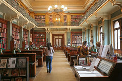 Old fashioned library Stock Photography