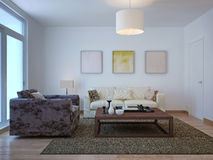 Old-fashioned living room design Royalty Free Stock Photos