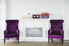 Old fashioned living room Stock Photo