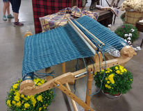 Old Fashioned Loom on Display at a Popular County Fair, Pennsylvania, USA Royalty Free Stock Photography