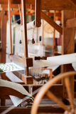 Old Fashioned Loom  2. Image of an old fashioned hand rug making loom from colonial times Stock Photo