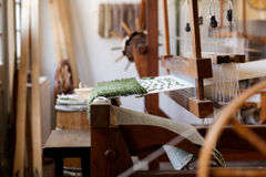 Old Fashioned Loom  1. Image of an old fashioned hand rug making loom from colonial times Stock Images