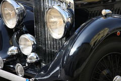 Old-fashioned luxury black car Royalty Free Stock Photos