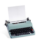 Old fashioned manual typewriter with blank paper Royalty Free Stock Photo