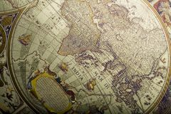 Old fashioned map Royalty Free Stock Photos