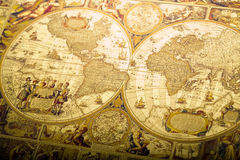 Old fashioned map. Map is a drawing or plan of the surface of the earth that shows countries, mountains, roads, etc Stock Image