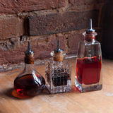 Old fashioned medicine bottles. Old pharmacy bottle Royalty Free Stock Image