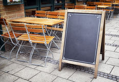 Old fashioned menu board Royalty Free Stock Images