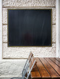 Old fashioned menu board Stock Image