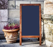 Old fashioned menu board Stock Images