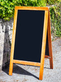 Old fashioned menu board Stock Photo