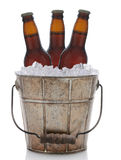 Old Fashioned Metal Beer Bucket Royalty Free Stock Images