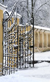 Old fashioned metal gate Royalty Free Stock Images