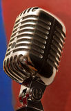 Old-fashioned microphone. Close-up of old-fashioned microphone Royalty Free Stock Images