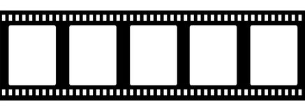 Old fashioned 35mm filmstrip isolated. On white background vector illustration