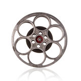 Old fashioned motion picture film reel. Royalty Free Stock Photos