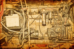 Old-fashioned  motor background Royalty Free Stock Photo