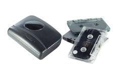 Old fashioned music of cassette player and cassette tape isolate Stock Image