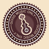 Old fashioned musical label Royalty Free Stock Images