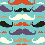 Old fashioned mustache seamless pattern Stock Image