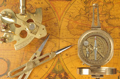 Old-fashioned navigation devices Stock Photos