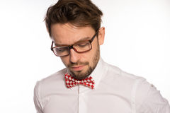 Old-fashioned nerdy businessman Stock Photos