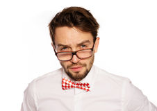 Old-fashioned nerdy businessman Royalty Free Stock Photography