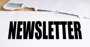 Old-fashioned newsletter with envelope Stock Photos