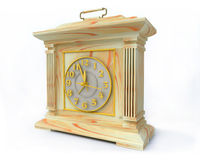 OLd-Fashioned Opal Clock. In 3D royalty free illustration