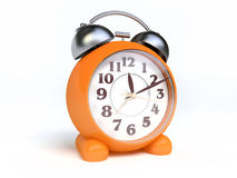 Old Fashioned Orange Alarm Clock Royalty Free Stock Images