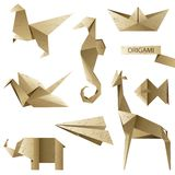 Old-fashioned origami set Royalty Free Stock Images