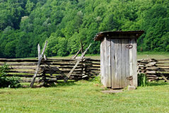 Old-fashioned outhouse Royalty Free Stock Image