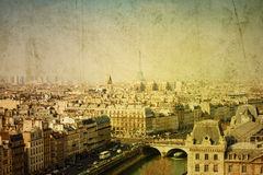 Old-fashioned paris france Royalty Free Stock Images