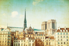 Old-fashioned paris france Royalty Free Stock Photos