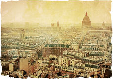 Old-fashioned paris france Stock Photos