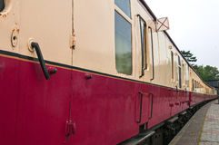 Old fashioned passenger train carriages Stock Photos