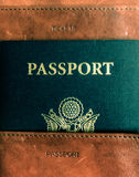 Old fashioned passport holder for travelers Royalty Free Stock Photo