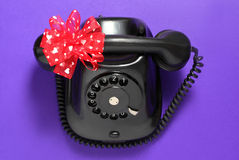 Old-fashioned phone Stock Photography