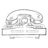 Old fashioned phone Stock Images