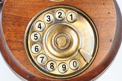 Old-fashioned phone dial Royalty Free Stock Photos