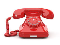 Old-fashioned phone on white isolated background Royalty Free Stock Photos