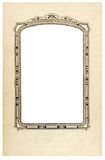 Old fashioned picture frame vertical. Stock Photo