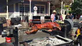 Old fashioned pig roast Royalty Free Stock Photo