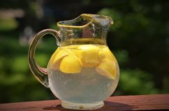 Old Fashioned Pitcher of Lemonade Royalty Free Stock Photography