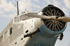 Old fashioned plane with propeller detail Stock Images